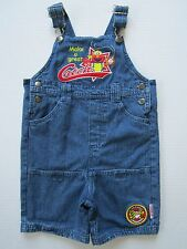 Elmo Boy's Denim Overall Shorts 4T Baseball Romper Blue Jeans Childs Jumpsuit