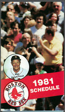 1981 BOSTON RED SOX PRUDENTIAL CENTER BASEBALL POCKET SCHEDULE RALPH HOUK COVER