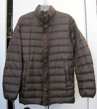 Uniqlo Men's Ultra Light Long Down Jacket, Brown, Size Medium NWOT