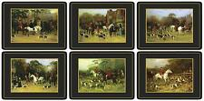 Pimpernel Tally Ho Placemats Set of 6 Horse Hounds Hunting Table Mats New Boxed