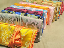 Wholesale 10 pcs Silk Brocade Travel Roll Bag Jewelry Pouch Fashion Gift New