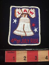 LAW 4th Of JULY Bike BICYCLE RIDE PATRIOTIC USA AMERICA LIBERTY BELL Patch 67MM