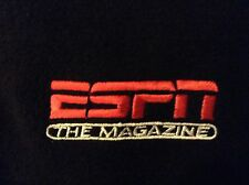 ESPN The Magazine Fleece Jacket 1/4 Zip Pullover Men's XL Black
