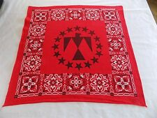 Red Bandana Eagle Inside Circle of Stars RN#14193 19.5x20 Doo Rag Handkerchief