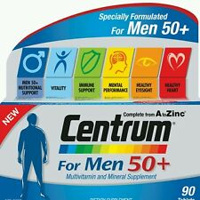 2× Centrum Multi Vitamin & Mineral For Men 90 tablets  50+ -OzHealthExperts