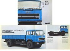 Fiat 619 N1 T1 Truck 1974/75 Original UK Sales Brochure Pub. No. 4002 3/75