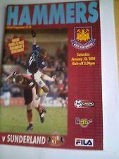 westham united v sunderland premiership 13/1/2001