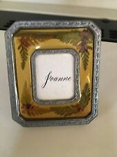 Metal Small Mini Pressed Flowers Photo Picture Frame Collectible