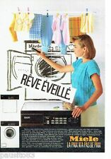 PUBLICITE ADVERTISING 116  1986   machine à laver Miele & séche linge