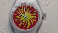 FUN 'SWATCH STYLE' PROMOTIONAL CUTTING COMMENTS 'SPLAT' SILK CUT WATCH 1997