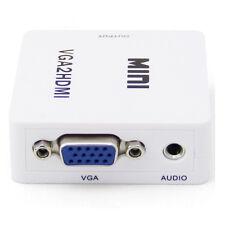 Mini compuesto 1080P HDMI a RCA definición audio AV CVBS Convertidor Adaptador