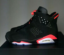 Nike Air Jordan 6 Retro Black Infrared Red Suede 384664 023 Men Size 10 Shoes