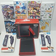 Mini Red Wii Console 2 PLAYER Bundle 50+ games/activities =Mario Sonic Olympics