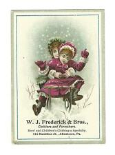 Trade Card WJ Frederick Clothes Furniture Allentown PA