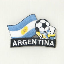 ARGENTINA SOCCER FOOTBALL KICK COUNTRY FLAG EMBROID. IRON-ON PATCH CREST BADGE