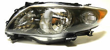 Toyota Corolla 2009-2013 Left Front head lamp lights for S/RS models Black USA