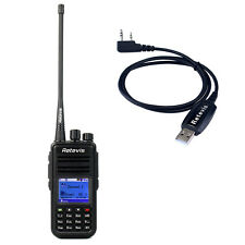 UHF Retevis RT3 DMR walkie-talkie 5W Digital 2 Way Radio+ cavo USB originale MD