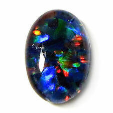 Molto Insolito 8x6mm OVAL cabochon-cut BLACK Opal terzetto Gemstone