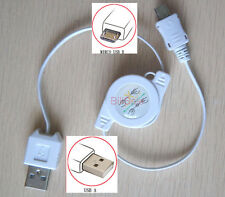 (FreeShip) Retractable Micro USB for Samsung Android Phone charger US Cable 01-R