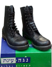 Israeli Army Military IDF / IAF / Navy Combat  Leather Light  Black Boots