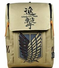Large Capacity Attack on Titan Backpack Canvas Rucksack Anime Book Bag Laptop