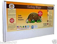 True Liberty Turkey Bags, Oven Smell Proof Pack Of 100  SAVE $$ W/ BAY HYDRO $$