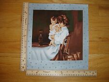 """Pioneer Living Mother and Child Lantern Cotton Quilt Fabric Block 9"""" x 9"""""""