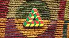 Impossible Geometry Sacred G Cube Triangle Rasta Reggae Enamel Lapel Hat Pin