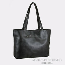 Authentic Chamilia Black PU Leather Tote 8010-0004