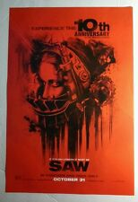SAW 10TH ANNIVERSARY AMANDA SHAWNEE SMITH FACE RED HORROR 13.5x20 MOVIE POSTER