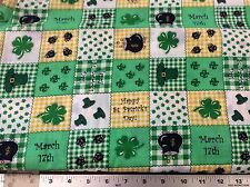 IRISH PATCHWORK BLOCK COTTON FABRIC BY SIGNATURE CLASSIC  BY THE YARD