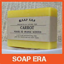 1x CARROT facial handmade soap NEROLI, ORANGE SCENTED- for mature & dry skin