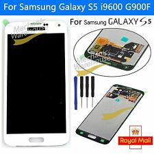 For Samsung Galaxy S5 i9600 G900F LCD Display Touch Screen Replacement White UK