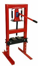 Dragway Tools® 6 Ton Hydraulic Shop Floor Press with Press Plates and H Frame