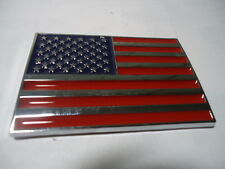 CAR MOTORCYCLE SIDE FENDER TRUNK EMBLEM BADGE AMERICAN FLAG X 1 PIECES