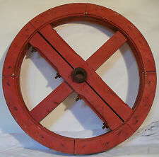 grosse roue poulie moulin usine deco industrielle 60 cm - old furniture factory