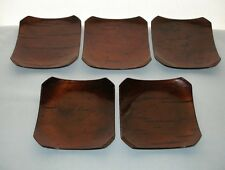 FREE US Ship 5 HAND CRAFTED Fine CHERRY BARK Lacquer DISHES Japanese SPECIAL SET