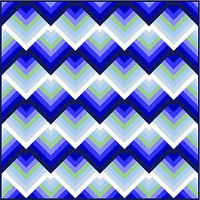 """RATIONALITY - 69"""" - Pre-cut Quilt Kit by Quilt-Addicts Double size"""