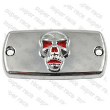 Red Skull Clutch Brake Fluid Reservoir Cap Cover For Honda Shadow 600 750 1100VT
