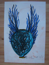 Original signed Dale Chihuly lithographic print large cobalt venetian