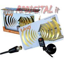 ANTENNA TV DVB-T UHF 42 dB DIGITALE TERRESTRE con VENTOSA INTERNA ESTERNA RADIO