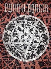 Dimmu Borgir Misanthropia todo rojo Pentagrama XL T-Shirt 2001 Black Metal