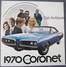 Original 1970 Chrysler Dodge Coronet 500, Super Bee, R/T Large Dealer Brochure