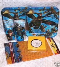 "How To Train Your Dragon 2 Party Pack for 16: 9"" Plates/Cups/Tablecover/napkins"