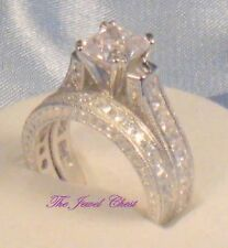 Princess Diamond Solitaire Engagement Ring Wedding Band Bridal Set Antique Style