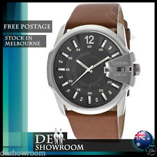 Diesel Master Chief Black Dial Brown Leather Mens Watch DZ1617 - Free shipping