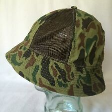 Camouflage Mens Bucket Hat Hunting Fishing Large L Cotton Blend Floppy Mesh Camo