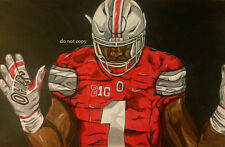 Braxton Miller Ohio State Painting signed