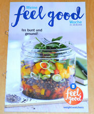 Weight Watchers Meine Feel Good Woche 14.8-20.8 SmartPoints 2016 Wochenbroschüre
