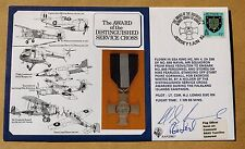 Attribution de la croix du service distingué 1985 couverture signée vc vainqueur rod Learoyd